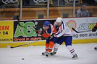 IJSHOCKEY: HEERENVEEN: Thialf, IIHF Ice Hockey U18 World Championship, 03-04-12, Nederland - Kroatie, Joey Verreijen (#17), Domagoj Kapetanic (#15), ©foto Martin de Jong