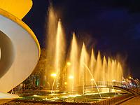 Konzertmuschel bei den Tanzenden Fontänen am  Batumi Boulevard, Batumi, Adscharien - Atschara, Georgien, Europa<br /> bandshell at dancing fountains , Batumi, Adjara,  Georgia, Europe