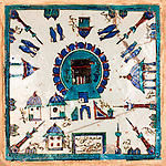 Iznik Kaaba - Kaaba design on an Iznik tile in Rustem Pasa Mosque, Eminonu, Istanbul, Turkey