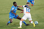 Getafe CF's Djene Dakoman (l) and Atalanta BC's Alejandro Gomez during friendly match. August 10,2019. (ALTERPHOTOS/Acero)