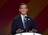 Mayor Eric Garrett (Democrat of Los Angeles, California) makes remarks during the fourth session of the 2016 Democratic National Convention at the Wells Fargo Center in Philadelphia, Pennsylvania on Thursday, July 28, 2016.<br /> Credit: Ron Sachs / CNP<br /> (RESTRICTION: NO New York or New Jersey Newspapers or newspapers within a 75 mile radius of New York City)