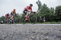 Early breakaway group with André Greipel (GER/Lotto Soudal), Pim Ligthart (NED/Roompot) and Nils Pollit (GER/Katusha Alpecin). <br /> <br /> Binckbank Tour 2017 (UCI World Tour)<br /> Stage 4: Lanaken > Lanaken (BEL) 155km