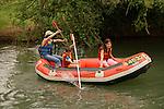 Israel, the Upper Galilee, Rafting in the Hazbani
