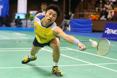 Sho Sasaki (JPN), .December 9, 2012 - Badminton : .The 66th All Japan Badminton Championships 2012, Men's Singles Final .at Yoyogi 2nd Gymnasium, Tokyo, Japan. .(Photo by Daiju Kitamura/AFLO SPORT) [1045]
