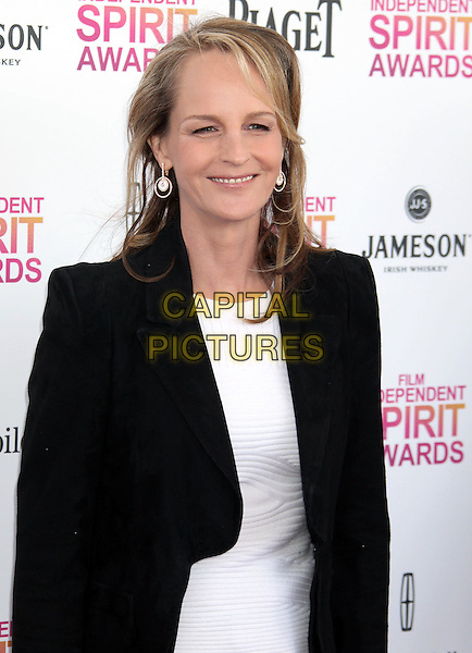 Helen Hunt.2013 Film Independent Spirit Awards - Arrivals Held At Santa Monica Beach, Santa Monica, California, USA,.23rd February 2013..indy indie indies indys half length jacket blazer top white black suit .CAP/ADM/RE.©Russ Elliot/AdMedia/Capital Pictures