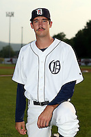 July 7th 2008:  Pitcher Luke Putkonen of the Oneonta Tigers, Class-A affiliate of Detroit Tigers, during a game at Damaschke Field in Oneonta, NY.  Photo by:  Mike Janes/Four Seam Images