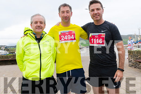 Alan Bridgeman, Pat O'Donnell and Maurice Kelly (from Listowel) at the Dingle Marathon on Saturday.