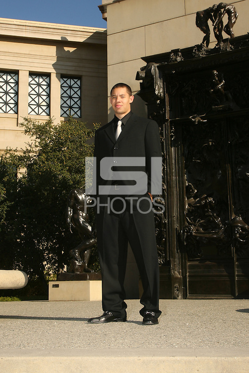 STANFORD, CA - OCTOBER 6:  Mitch Johnson of the Stanford Cardinal during pictured day on October 6, 2008 at the Rodin Sculpture Garden in Stanford, California.