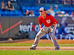23 February 2013: Washington Nationals infielder Matt Skole in Spring Training action against the New York Mets at Tradition Field in Port St. Lucie, Florida. The Mets defeated the Nationals 5-3 in their Grapefruit League Opening Day game. Mandatory Credit: Ed Wolfstein Photo *** RAW (NEF) Image File Available ***