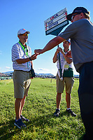 Charley Hoffman (USA) presents a ball to the staff following Sunday's round 4 of the 117th U.S. Open, at Erin Hills, Erin, Wisconsin. 6/18/2017.<br /> Picture: Golffile | Ken Murray<br /> <br /> <br /> All photo usage must carry mandatory copyright credit (&copy; Golffile | Ken Murray)