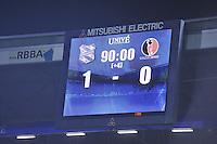 VOETBAL: HEERENVEEN: Abe Lenstra Stadion 29-10-2015, SC Heerenveen, SC Heerenveen - Helmond Sport, uitslag 1-0, Henk Veerman scoorde en kreeg aan het einde van de wedstrijd een rode kaart, scorebord, ©foto Martin de Jong