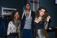 NEW YORK CITY - MARCH 15: Charlayne Woodard, Dominique Jackson and Hailie Sahar attend FX Networks 2018 Annual All-Star Bowling Party at Lucky Strike Manhattan on March 15, 2018 in New York City. (Photo by Anthony Behar/FX/PictureGroup)