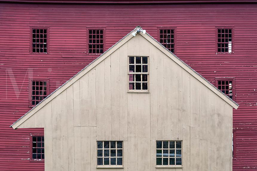 Red barn detail, Hancock Shaker Village, Massachusetts, USA