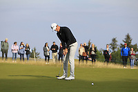 Gary Hurley (IRL) on the 11th green during Round 3 of the 2015 Alfred Dunhill Links Championship at Kingsbarns in Scotland on 3/10/15.<br /> Picture: Thos Caffrey | Golffile