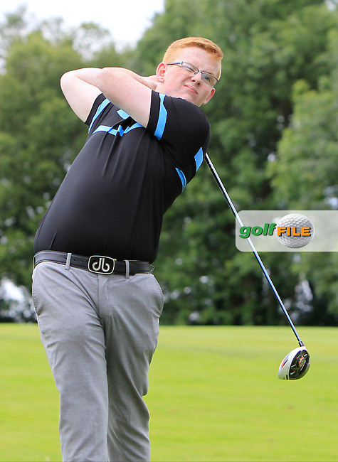 Luke Crory (Banbridge) on the 17th tee during Round 1 of the Ulster U16 Boys Open at Dungannon Golf Club on Wednesday 12th August 2015.<br /> Picture:  Thos Caffrey / www.golffile.ie