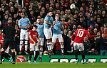 Marcus Rashford of Manchester United attempts a free kick during the Carabao Cup match at Old Trafford, Manchester. Picture date: 7th January 2020. Picture credit should read: Darren Staples/Sportimage
