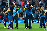 BARCELONA (16/05/2010).- Barcelona players celebrate Spanish League Championship at Camp Nou Stadium. Xavi Hernandez...Photo. Gregorio / ALFAQUI