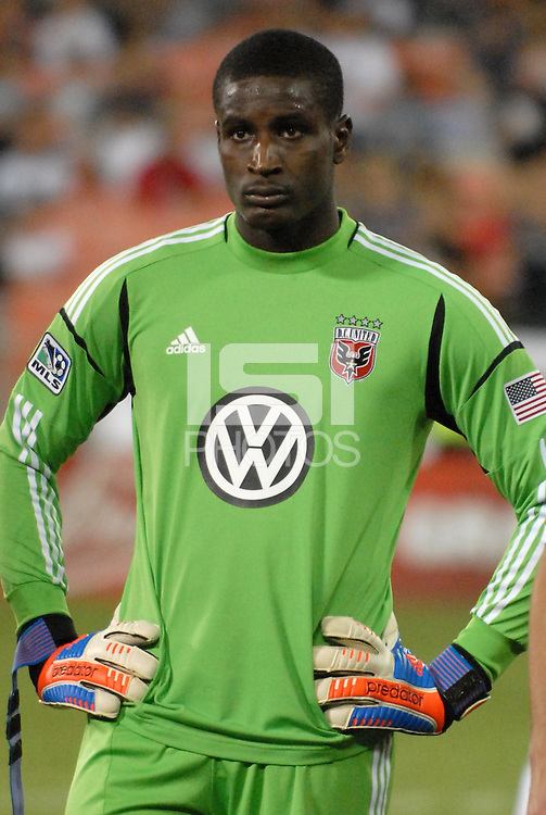 D.C. United goalkeeper Bill Hamid (28) The New York Red Bulls tied D.C. United 2-2 at RFK Stadium, Wednesday August 29, 2012.