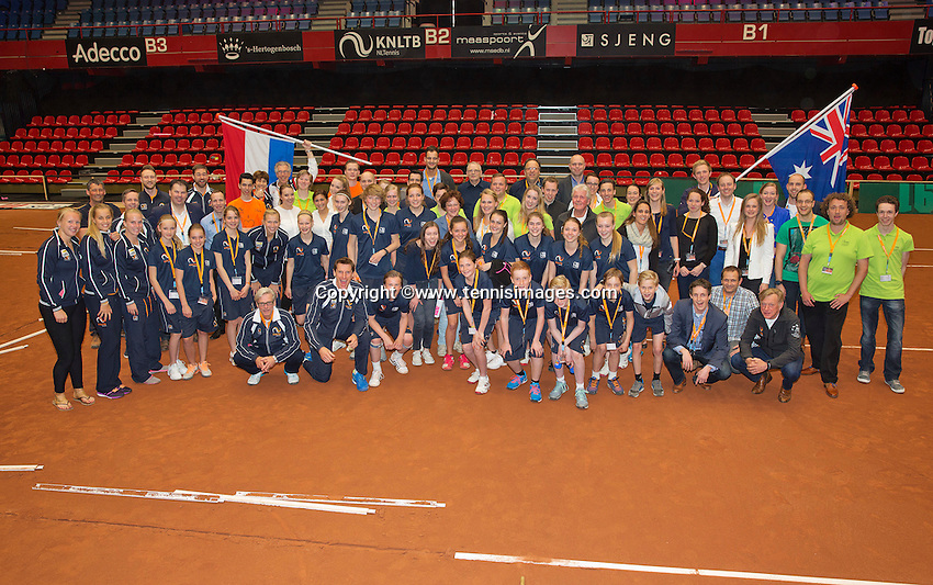 Netherlands, Den Bosch, April 18 2015 Maaspoort, Fedcup Netherlands-Australia,  <br /> Photo: Tennisimages/Henk Koster