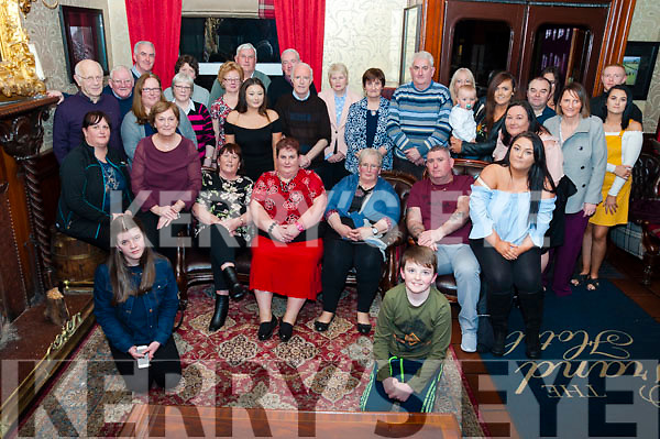 Helen Keane (pictured front in red) of Lyracrompane celebrated her 50th Birthday with family and friends at The Grand Hotel, Tralee on Sunday evening.