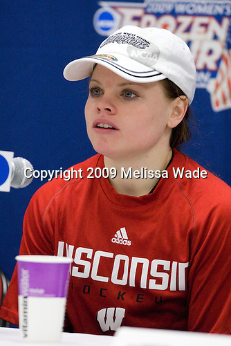 Erika Lawler (Wisconsin - 13) - The University of Wisconsin Badgers defeated the Mercyhurst College Lakers 5-0 to win the 2009 NCAA D1 National Championship in the Frozen Four final game at Agganis Arena, in Boston, Massachusetts, on Sunday, March 22, 2009.