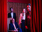 Vinyl Creator Terence Winter poses with actors from the new HBO show including Ray Romano, Olivia Wilde, and Bobby Canavale at The Langham Hotel in Pasadena, California January 7, 2016. <br /> <br /> Photo by Brinson+Banks