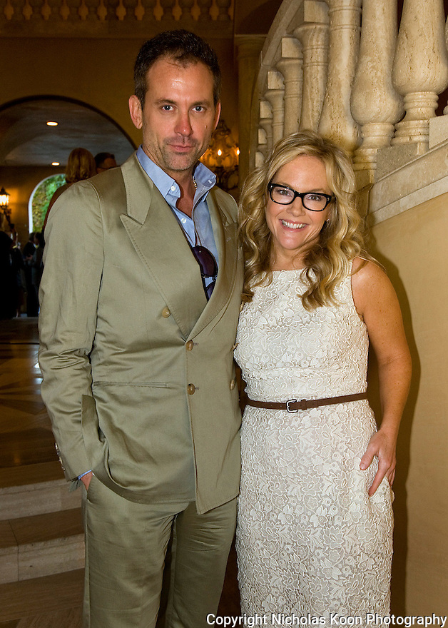 Jeff Snyder and Actress Rachael Harris at an Oceana fundraiser in Laguna Beach on 7/29/12..