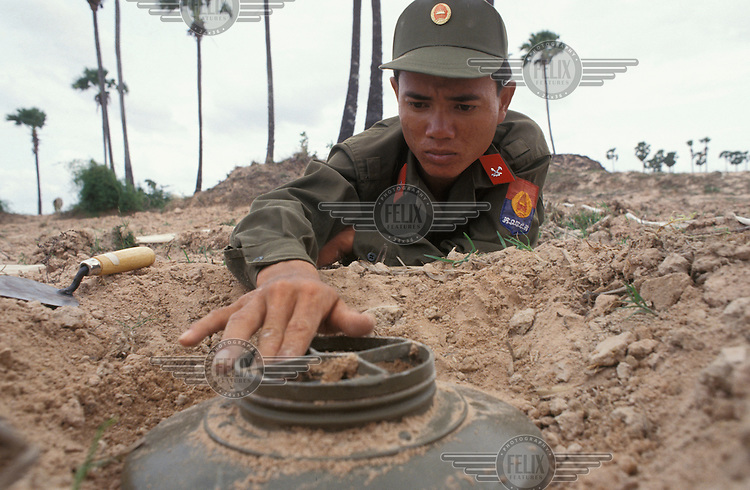 United Nations (UN) Transitional Authority in Cambodia (UNTAC) mine clearing training unit.