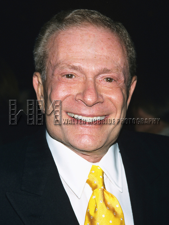 """Jerry Herman at the opening night of """"Oklahoma"""" at the Gershwin Theatre in New York City on March 21, 2002."""