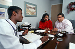 Couple meets with physician