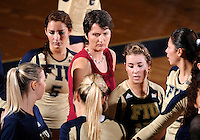 Florida International University women's volleyball Head Coach Danijela Tomic during the game against Florida A&M University.  FIU won the match 3-0 on September 11, 2011 at Miami, Florida. .