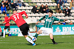 26.10.2019, Stadion Lohmühle, Luebeck, GER, Regionalliga Nord VFB Lübeck/Luebeck vs Hannover 96 II <br /> <br /> <br /> DFB REGULATIONS PROHIBIT ANY USE OF PHOTOGRAPHS AS IMAGE SEQUENCES AND/OR QUASI-VIDEO.<br /> <br /> im Bild / picture shows<br /> Benjamin Hadzic (Hannover 96 II) im Zweikampf gegen Sven Mende (VfB Luebeck)<br /> <br /> Foto © nordphoto / Tauchnitz