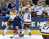 Joe Basaraba (Duluth - 18), Brian Flynn (Maine - 10), Drew Olson (Duluth - 8) - The University of Minnesota Duluth Bulldogs defeated the University of Maine Black Bears 5-2 in their NCAA Northeast semifinal on Saturday, March 24, 2012, at the DCU Center in Worcester, Massachusetts.