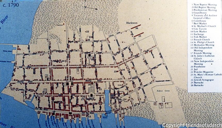 Charlston:  Charleston Map, 1790.
