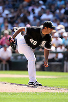 August 15 2008:  Pitcher Horacio Ramirez of the Chicago White Sox during a game at U.S. Cellular Field in Chicago, IL.  Photo by:  Mike Janes/Four Seam Images