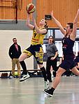 2018-02-18 / Basketbal / Seizoen 2017-2018 / Okido Arendonk - Grimbergen / Van Campfort (Okido) probeert te scoren<br /> <br /> ,Foto: Mpics.be