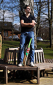 Scotland cricketer Calum MacLeod photographed in the park near his Stepps home - picture by Donald MacLeod - 26.03.14 – 07702 319 738 – clanmacleod@btinternet.com – www.donald-macleod.com