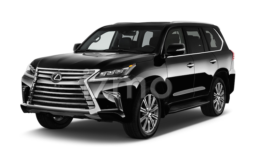 2018 Lexus LX 570 5 Door SUV Angular Front stock photos of front three quarter view