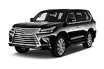2017 Lexus LX 570 5 Door SUV Angular Front stock photos of front three quarter view