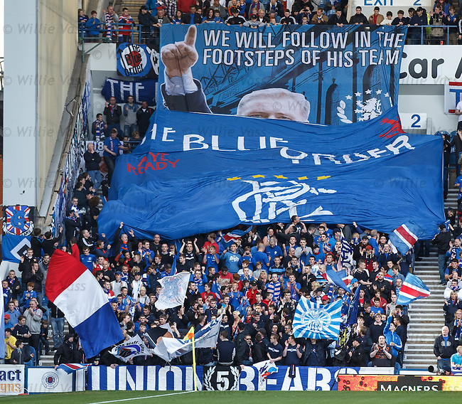 The Blue Order unveil their tribute banner to Ally McCoist