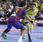 Velux EHF Champions League (day 3),Spain, Barcelona FC Barcelona Intersport beat 36-24 IK Savehof at Palau Blaugrana. Picture show Frederik Larsson