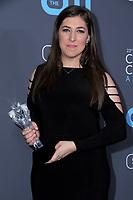 11 January 2018 - Santa Monica, California - Mayim Bialik. 23rd Annual Critics' Choice Awards held at Barker Hangar. <br /> CAP/ADM/BT<br /> &copy;BT/ADM/Capital Pictures