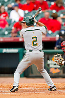 Steve DalPorto #2 of the Baylor Bears at bat against the Houston Cougars at Minute Maid Park on March 4, 2011 in Houston, Texas.  Photo by Brian Westerholt / Four Seam Images