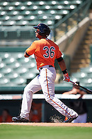Baltimore Orioles Chris Dickerson (36) during an Instructional League game against the Boston Red Sox on September 22, 2016 at the Ed Smith Stadium in Sarasota, Florida.  (Mike Janes/Four Seam Images)