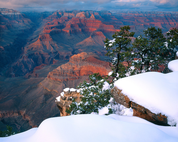 Sunset light at Mohave Point on the West Rim; Grand Canyon National Park, AZ