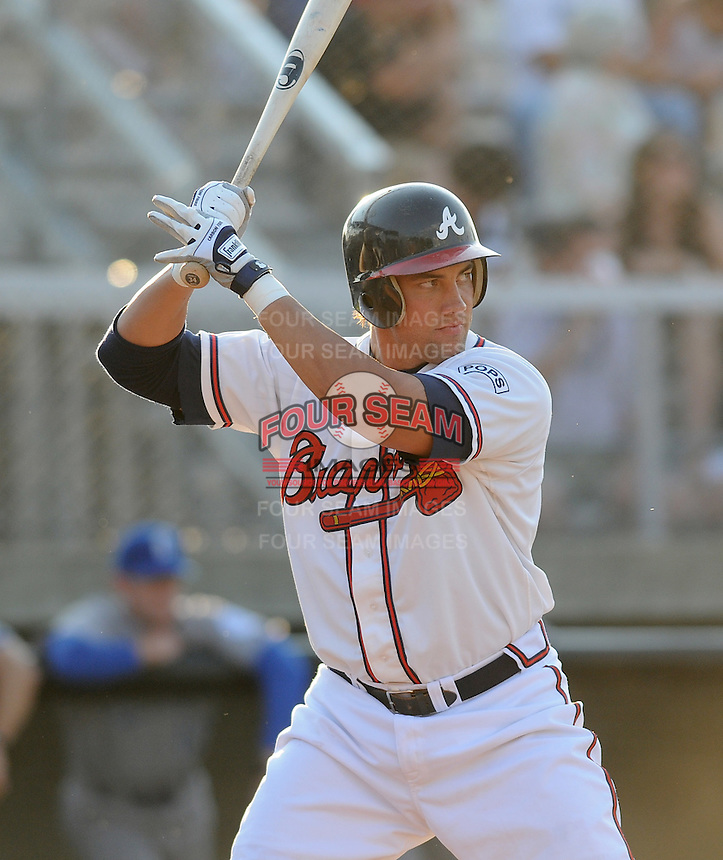 June 19, 2008: Infielder Stephen Shults (22) of the Danville Braves, rookie Appalachian League affiliate of the Atlanta Braves, in a game against the Burlington Royals at Dan Daniel Memorial Park in Danville, Va. Photo by:  Tom Priddy/Four Seam Images