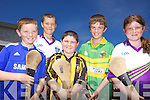 HURLEYS AT THE READY: Some of the participants at the GAA Cu?l Camp at Abbeydorney last week, l-r: Shane Conway, Anthony Reidy, Aidan Leahy, Cian McCarthy, Maisie Falvey.