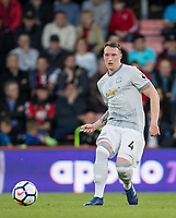 Phil Jones of Man Utd during the Premier League match between Bournemouth and Manchester United at the Goldsands Stadium, Bournemouth, England on 18 April 2018. Photo by Andy Rowland.