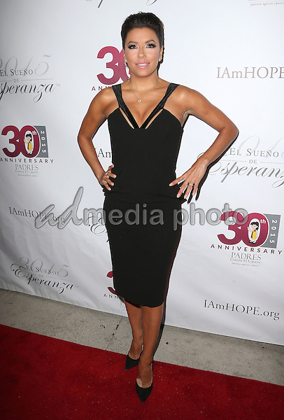 "17 September 2015 - Hollywood, California - Eva Longoria. Padres Contra El Cancer's 15th Annual ""El Sueno De Esperanza"" held at Boulevard3. Photo Credit: F. Sadou/AdMedia"
