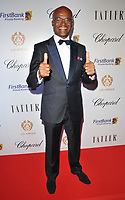 Kriss Akabusi at the Lux Afrique gala dinner, Claridge's Hotel, Brook Street, London, England, UK, on Sunday 01 October 2017.<br /> CAP/CAN<br /> &copy;CAN/Capital Pictures